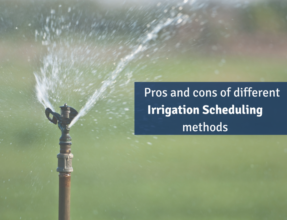 The pros and cons of different irrigation scheduling methods